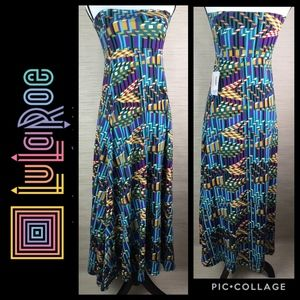 LuLaRoe Maxi Skirt/Dress Geometric Print
